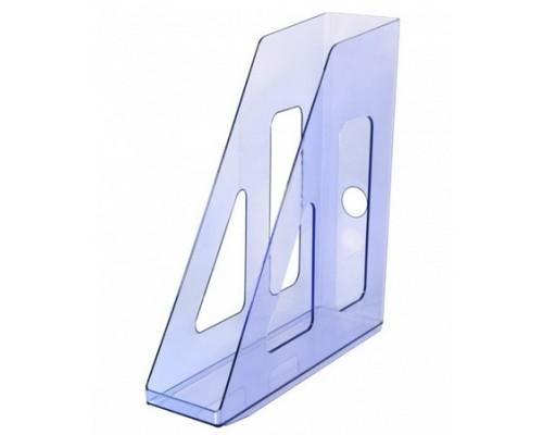 Лоток для бумаг вертикальный Актив тонированный голубой