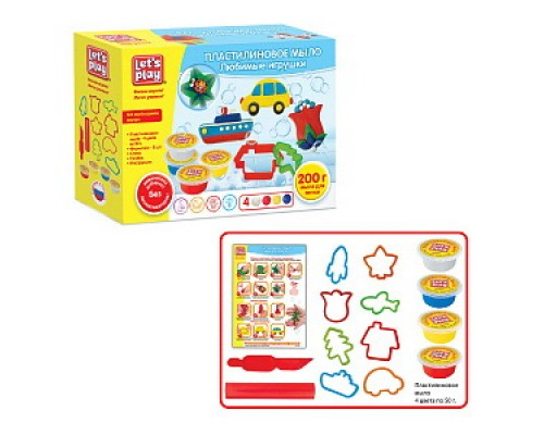 Набор для творчества Пластилиновое мыло Любимые игрушки ТМ Let's Play