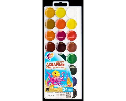 Краски акварельные 24 цвета ZOO (без кисти)