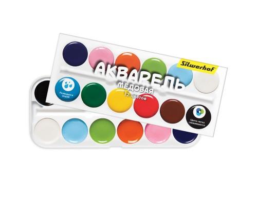 Краски акварельные 12 цветов Silwerhof Народная кол-ция (без кисти) БЕЗ СКИДКИ