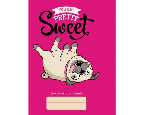 Дневник (интегральная обложка) Любимый мопс (для средних и старших классов)