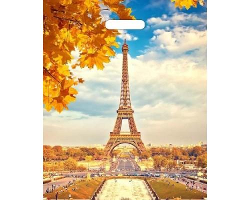 Пакет вырубной 40*31см.Осенний Париж