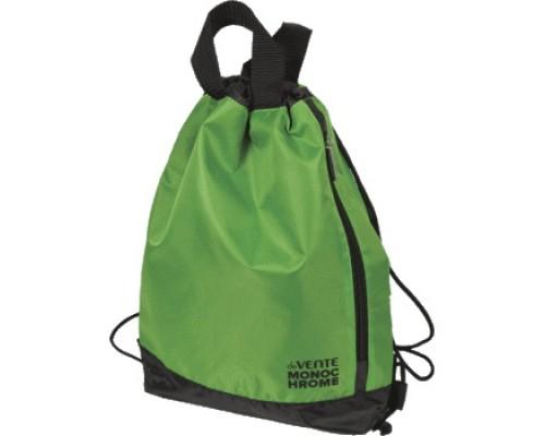 Сумка для сменной обуви deVENTE Monochrome с ручками, черный с неоновым зеленым
