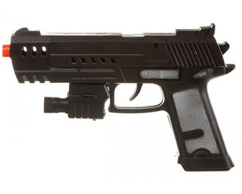 Оружие пистолет с лазерным прицелом РАС 21см , 9017J-2