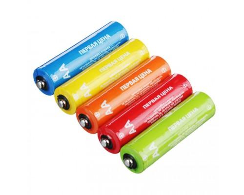 "Батарейка Первая цена ""Super heavy duty"" солевые, тип АА (R6), S4"