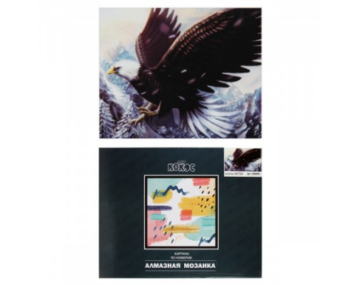 Алмазная мозаика 40*50см КОКОС Орел полная выкладка холст на подрамнике 209600