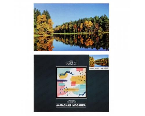 Алмазная мозаика 30*40см КОКОС Русский пейзаж полная выкладка холст на подрамнике 209505